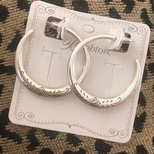 NWT Brighton Hoop Earrings